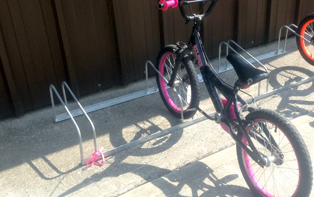 child friendly bike stand