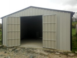 double door steel garage