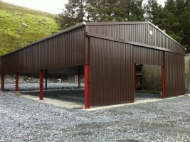 exterior steel shed