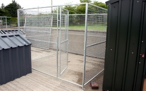 galvanised dog run