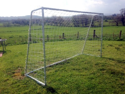 galvanised steel goal posts