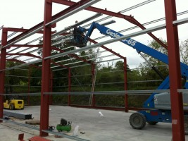 i beam steel frame construction