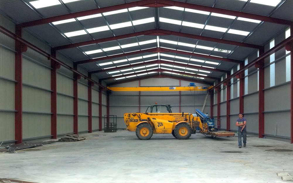 Commercial Steel Garages Inside : Industrial steel buildings kp engineeringkp engineering