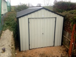 ready assembled steel shed for small spaces
