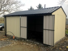 side opening steel shed