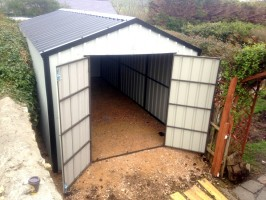 steel clad shed