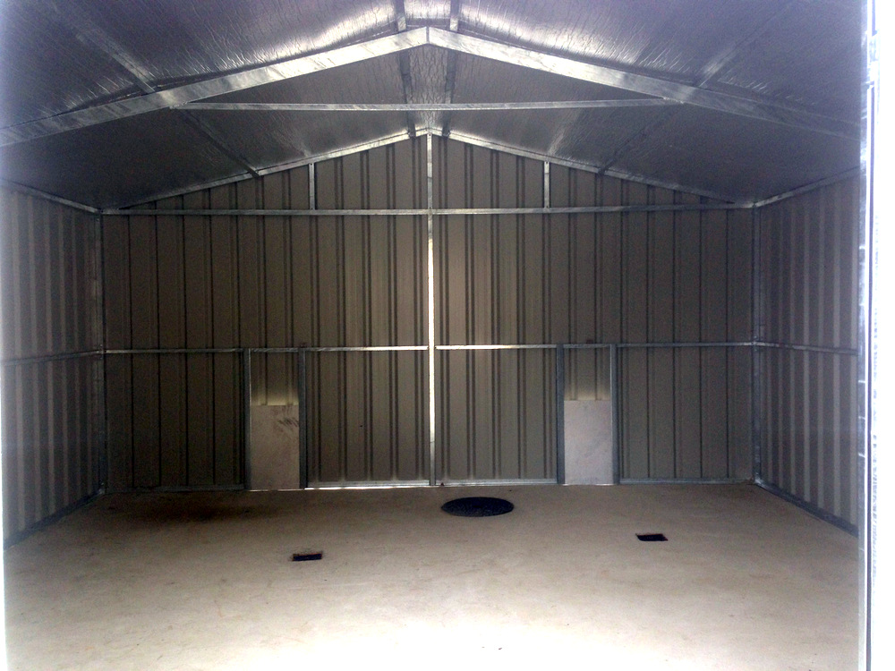 steel garage interior