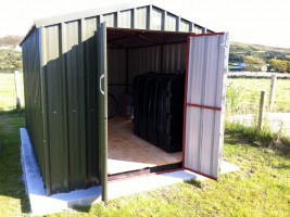 steel garden shed double doors