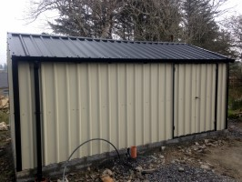 steel shed gutering