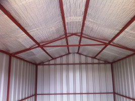 steel shed interior insulated