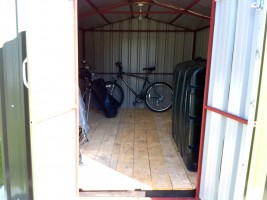 steel shed oil tank storage